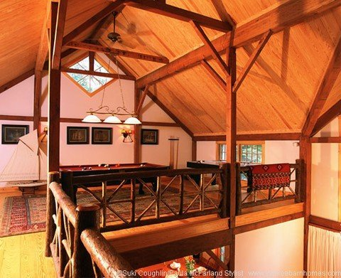 The versitility of barn homes loft space on display.
