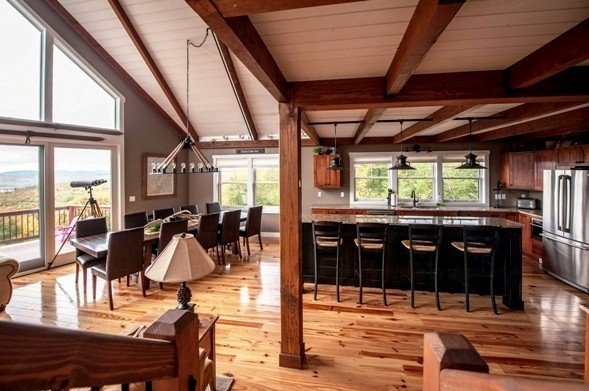 A Great Yankee Barn Homes Post And Beam Mountain Get Away