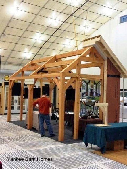 Yankee barn homes at 2014 new england home show for New england barn homes