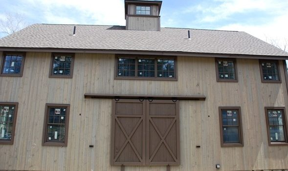 Classic Barn House Well Underway