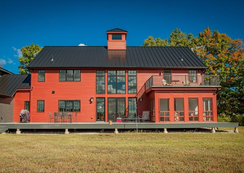 New England Post and Beam Contemporary Red Barn