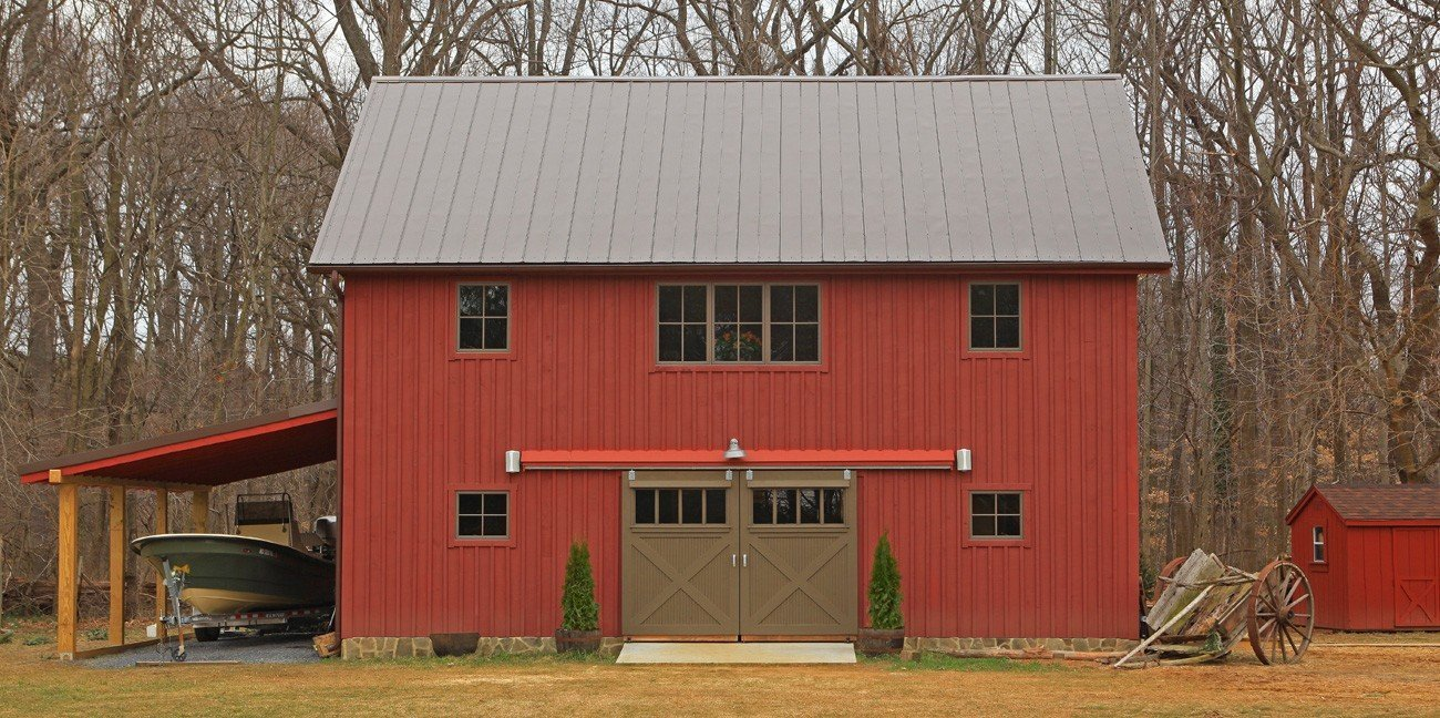 Edgewater carriage house garage plans yankee barn homes for Barn style garages