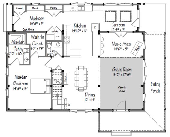 Small Barn Homes Floor Plans