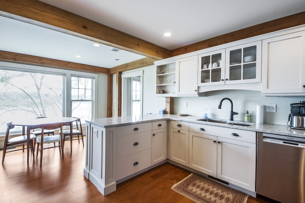 Lakeside Cottage Post and Beam Kitchen