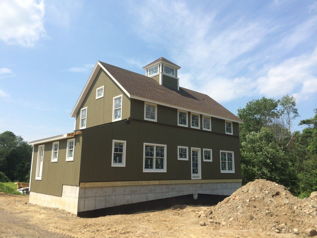 Post and beam farmhouse panelized construction