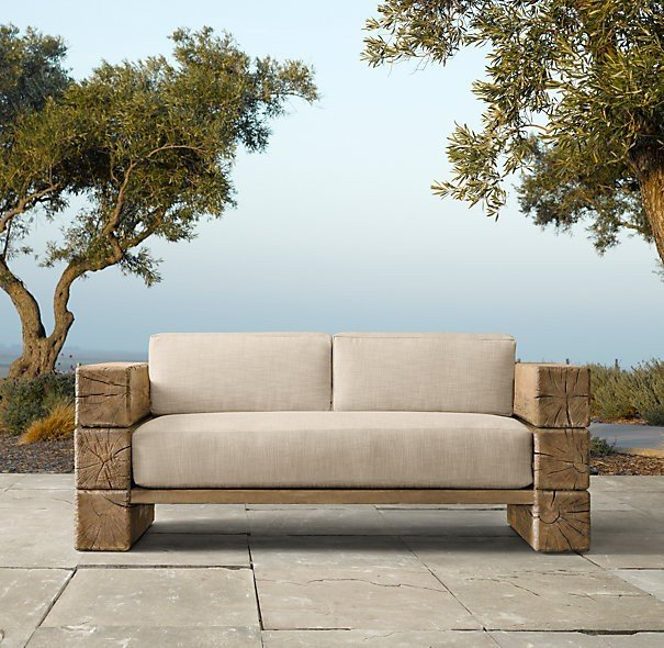 Post and beam inspiration outdoor furniture for Sofa tela nautica