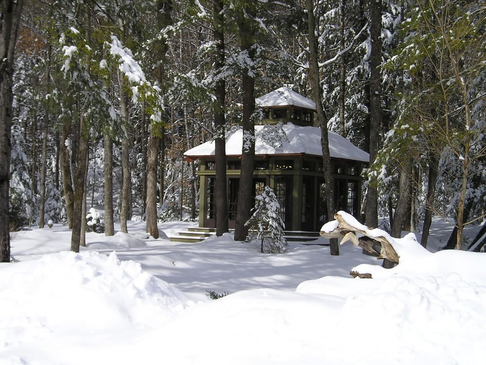 Tea House in the Snow
