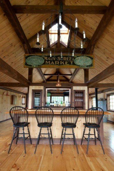 Eaton Carriage House - Post and beam bar