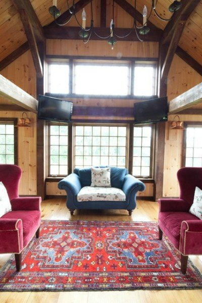 Eaton Carriage House - Post and beam great room