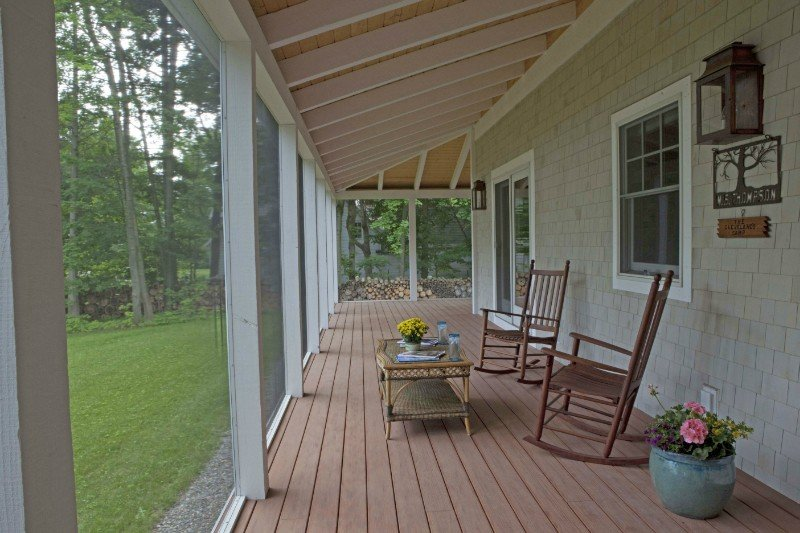 Coastal cottage wrap around porch