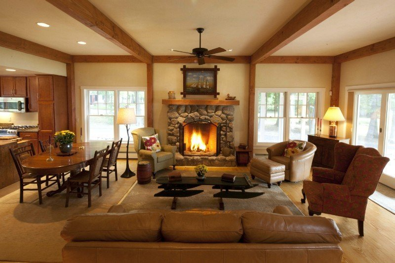 Sunapee cottage floor plans yankee barn homes for Interior pictures of post and beam homes
