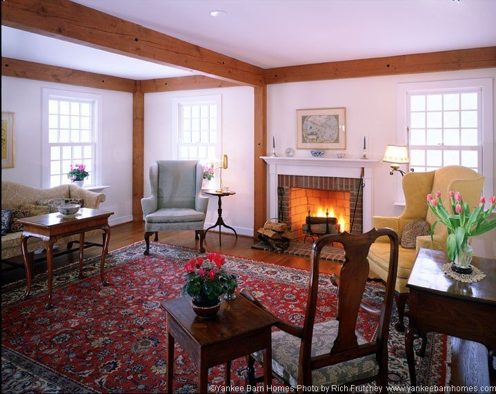 Timber frame gathering room