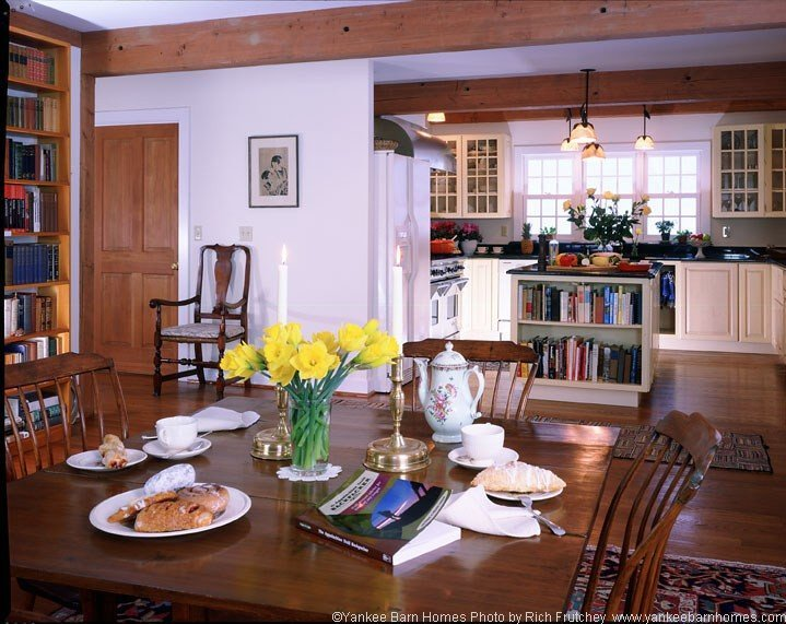 Timber frame farmhouse dining
