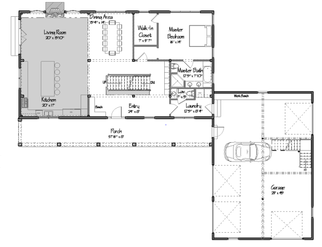 Freedom Hill Floor Plan Level One