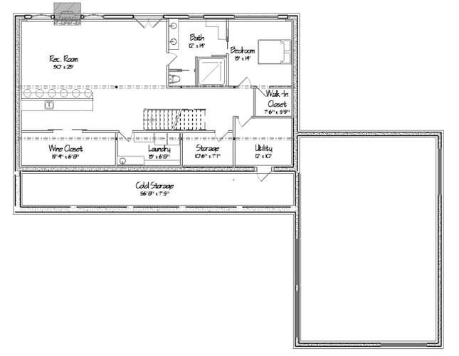 Freedom Hill Floor Plan Lower Level