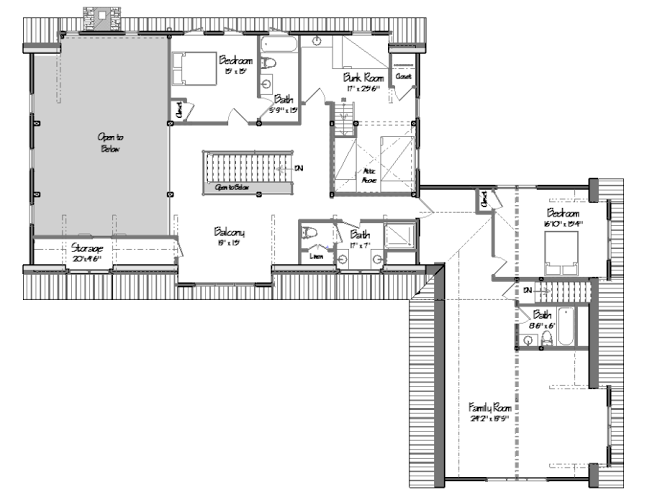 Freedom Hill Floor Plan Level Two