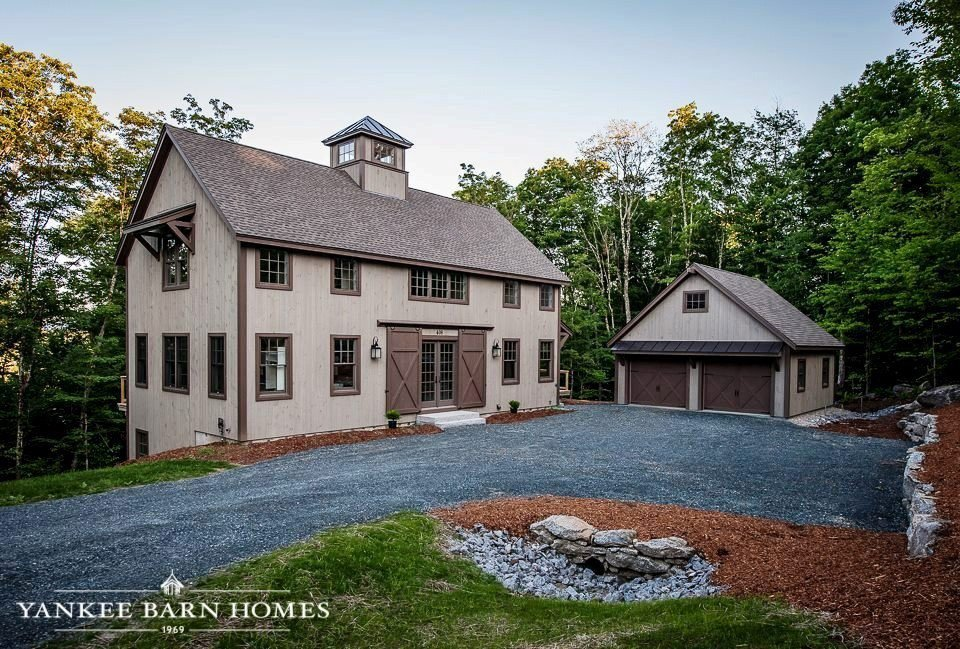 Barn style home stuns the grantham lakehouse for Lakehouse homes