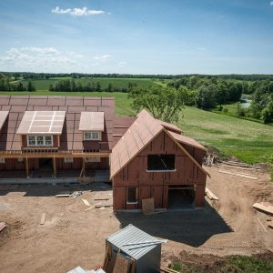 Post and Beam Homes Go Up In Two Weeks