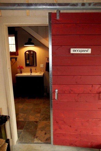 Sliding Lavatory Door