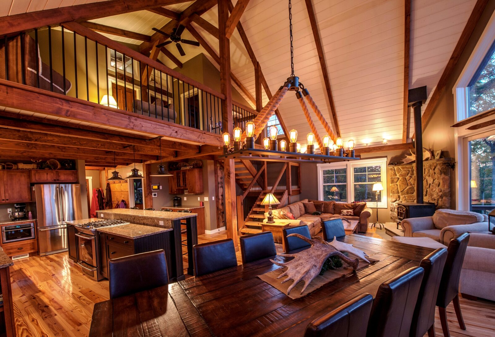the barn house loft at moose ridge lodge