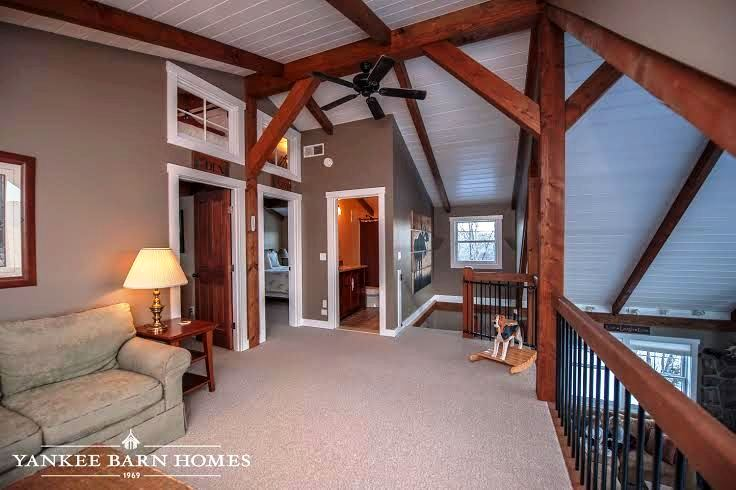 The barn house loft at moose ridge lodge for Barn home builders near me