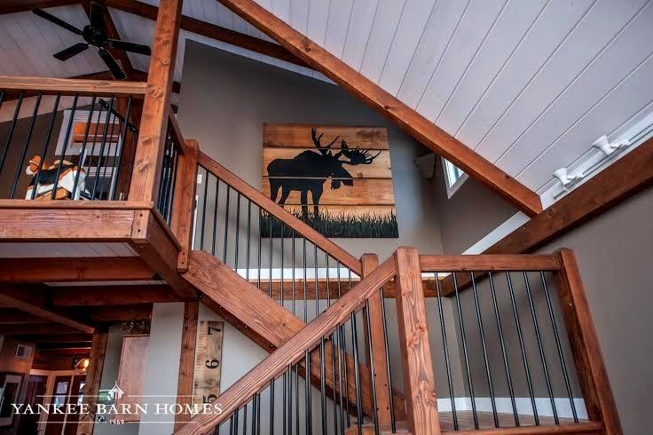The barn house loft at moose ridge lodge for Shed house with loft