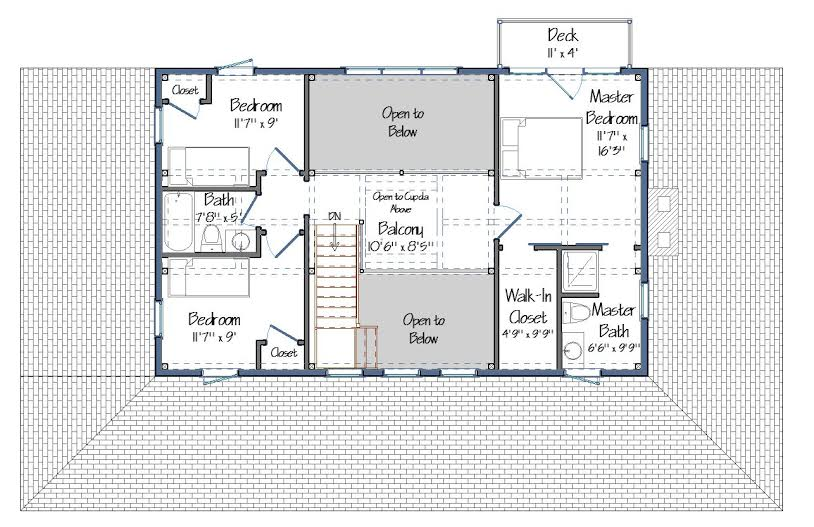 Merrimack Floor Plan Level Two