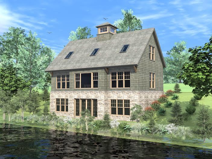 Barn House Plans - Masnfield Hollow Rear Elevation