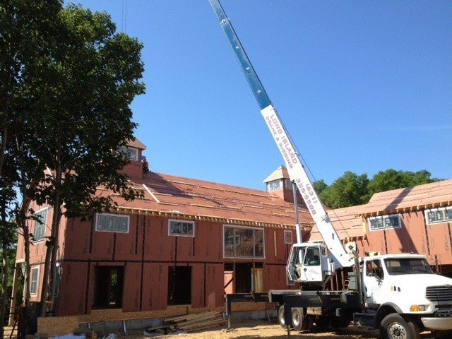 The Southold Barn Home Goes Up