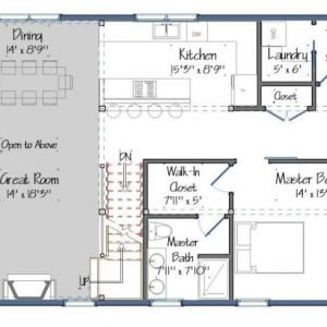 Boulder Meadows Barn House Plans Level One