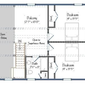 Boulder Meadows Barn House Plans Level Two