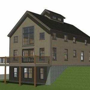 Boulder Meadows Barn House Plans Left Elevation