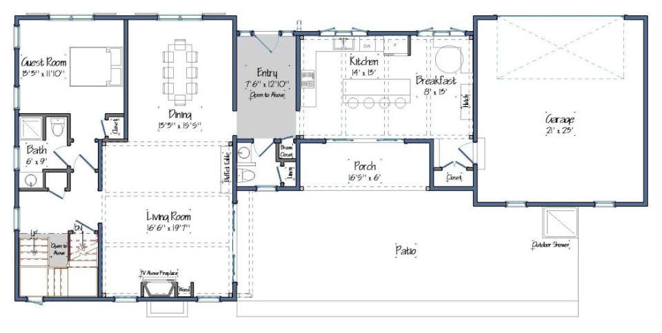The Maidstone Floor Plan Level One