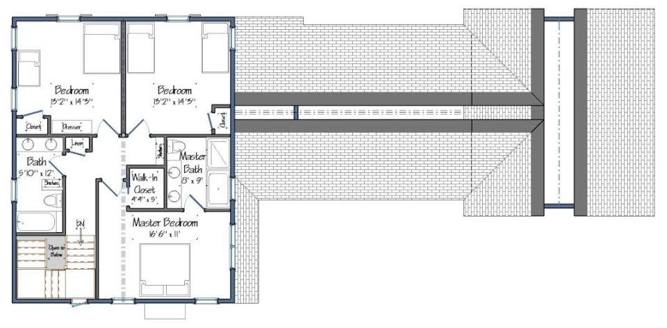 The Maidstone Floor Plan Level Two