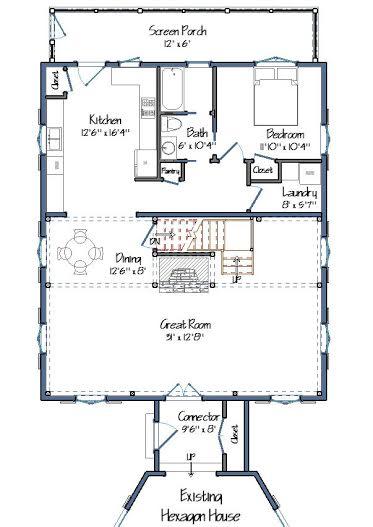 Parris-Briggs Floor Plans Level One