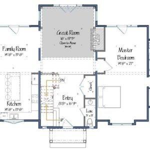 Menemsha Cottage Level one Floor Plans