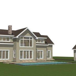 Menemsha Cottage Rear Elevation