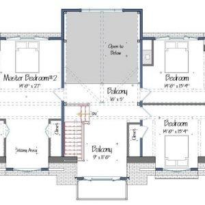 Menemsha Cottage Level Two Floor Plans