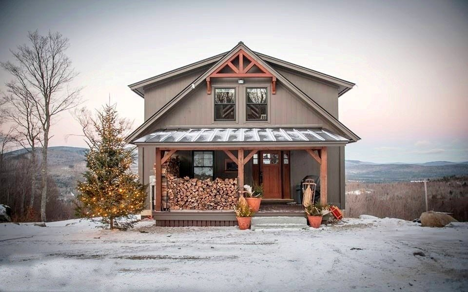 Happy holidays from yankee barn homes for Barn style house designs