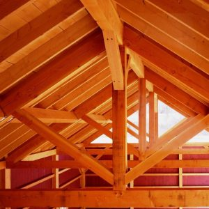 King Post Truss Barn Frame