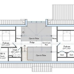 The Cabot Level Two Floor Plan