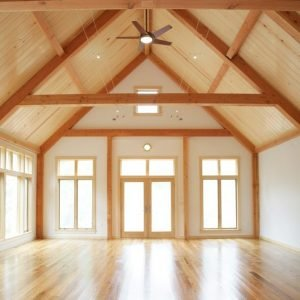A Frame Post and Beam Interior