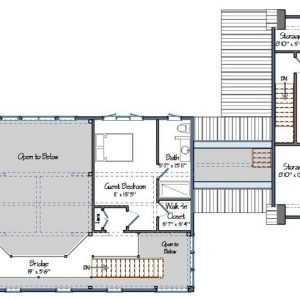 Contemporary Post and Beam Level Two Floor Plan