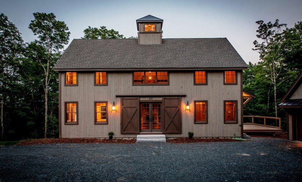 Smaller barn house gets big award for Barn type house plans