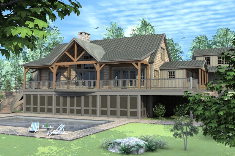 Log Post Beam Homes likewise Metal Roofing Rustic Exterior Minneapolis further Finished Cabins in addition Cabin Plans Small Back Yard as well Timber Frame Home. on pole barn cabins