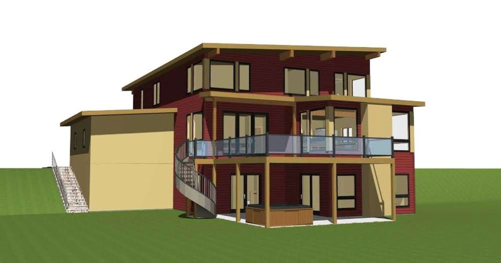 Mad River Modern Back Elevation