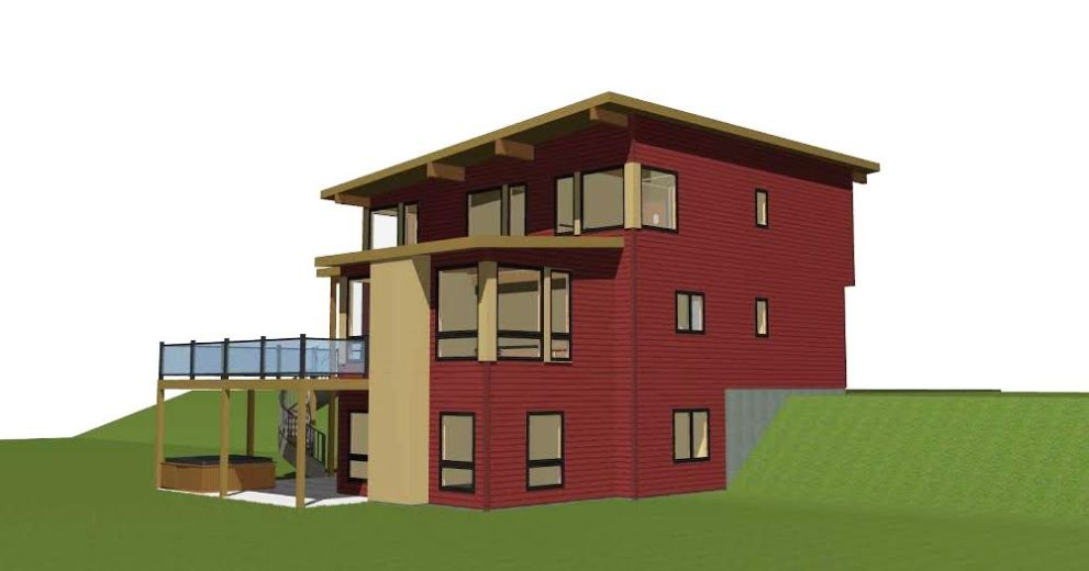 Mad River Modern Side Elevation