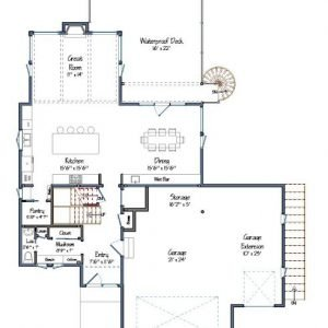 Mad River Modern Level One Floor Plan