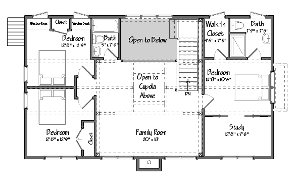 lakehouse 2nd floor plan single floor living in a multilevel yankee barn on multi level lake - Lake House Plans