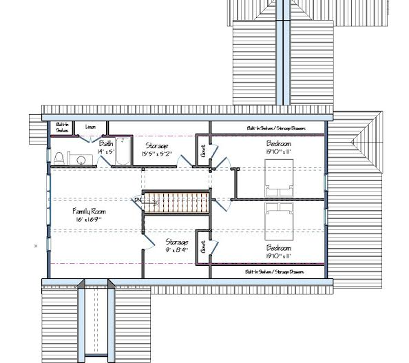 Age in place the cooperstown farmhouse design for Aging in place house plans